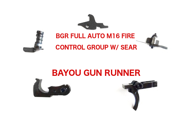bgr m16 full auto fire control group bayou gun runner ar  15 lower diagram