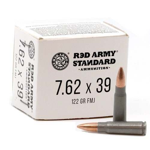 Century Red Army Russian 7.62x39 Ammunition Steel AM3092 122 Grain Full Metal Jacket 20 Rounds