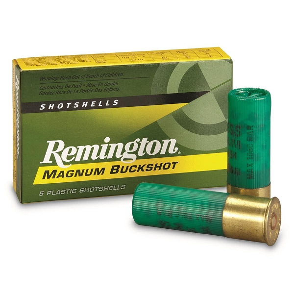 "Remington 12 Gauge Ammunition Express Magnum 12HB4 3"" 4 Buck 41Pellets 1225fps 5 Rounds"
