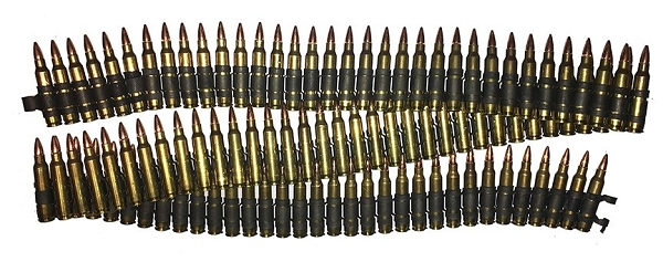 M249 SAW 5.56 NATO Linked Dummy Rounds