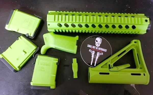 BGR ZOMBIE GREEN AR15 PACKAGE Milspec  With 3 Mags