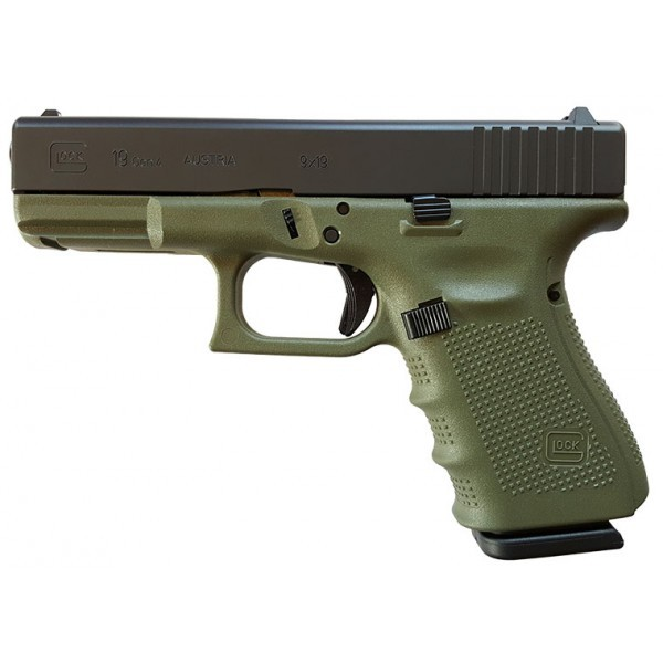 GLOCK 19 GEN4 9MM BATTLEFIELD GREEN