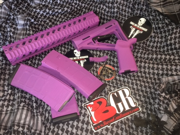 BGR PEOPLE EATER PURPLE AR15 PACKAGE Milspec With 3 Mags