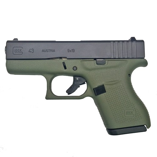GLOCK 43 9MM BATTLEFIELD GREEN