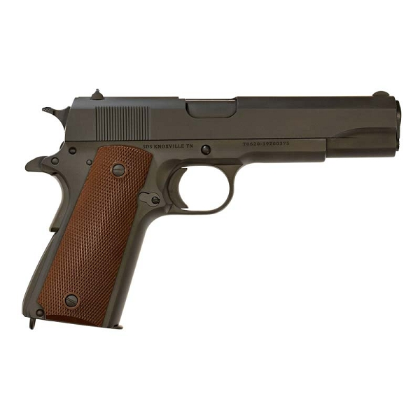 SDS Imports 1911 A1 US Army .45 ACP 5in 7+1 Dark Gray Finish Checkered Wood Grip