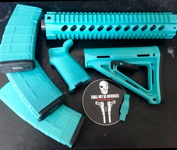 BGR WINTER SKY BLUE AR15 PACKAGE Milspec With 3 Mags